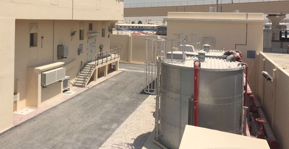 Fire stop cable coating and penetration seals for Kahramaa substations